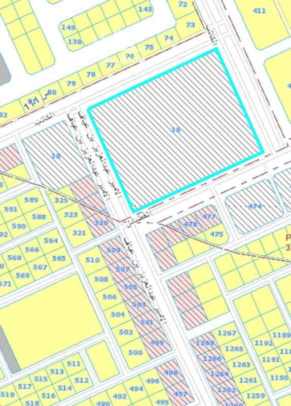 1672304 ارض تحارية سكنية تقع على اربع شوارع عرض ٣٦م تصلح لمشروع سكني تحاري او مذارس اهلية