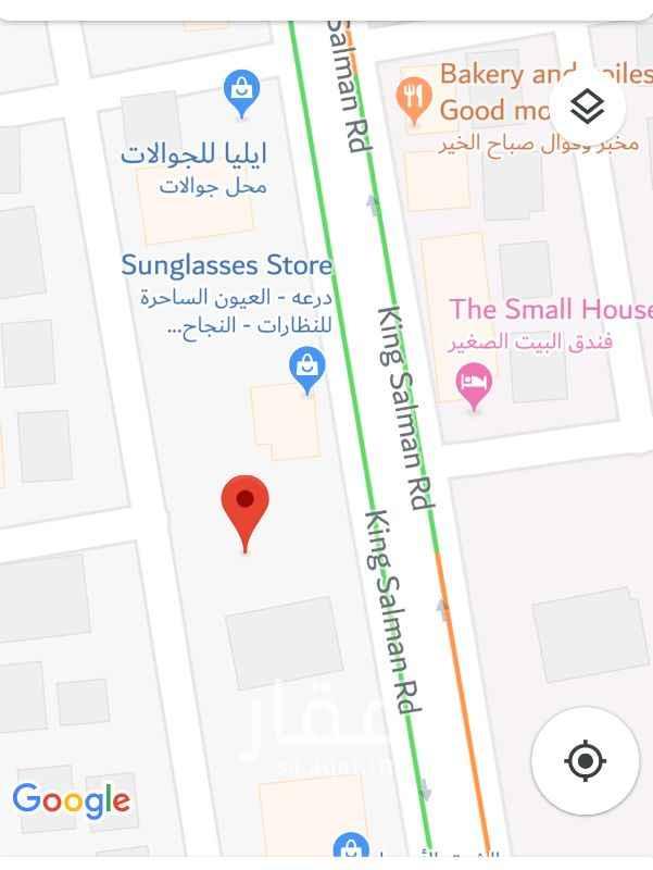 1253945 ارض تجارية على شارع الملك سلمان - شارع النجاح في موقع تجاري مميز مقابل هجر سنتر. الارض للاستثمار.