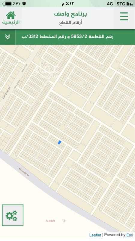 1693523 ارض سكنية رقم ٥٩٥٣ /٢  شارع ٢٥ شرقي حسب الطبيعه  مساحة ٤٢٠  الاطوال : ١٢ في عمق ٣٥  خير / ب  حد ع شور ١٦٠ الف