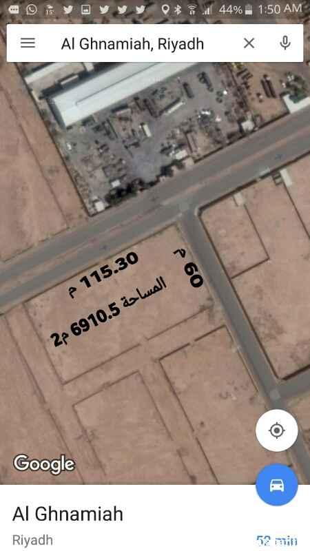 125707 الأرض للإيجار .تقع على أربع شوارع. شمالي 30م والباقي 15 م الموقع الغنامية الغربية.  منطقة مستودعات. *السعر قابل للتفاوض*