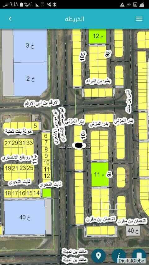1692315 للبيع  ارض في ضاحية الملك فهد بالدمام  المجاورة الرابعة - الحي الثالث قطعة رقم 171   على شارعين 60 متر غرب 24 شرق