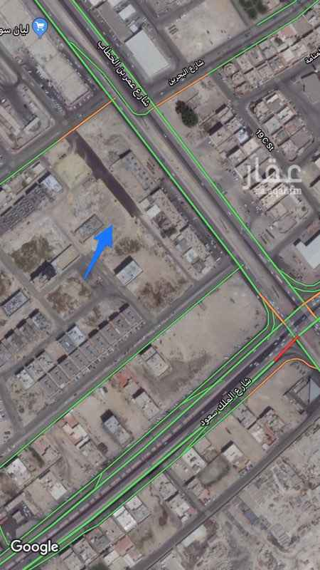 1677620 ارض استثمارية مصرح ٣ ادوار على شارع شرق ٢٠  اطوالها ٢٠ في ٤٠