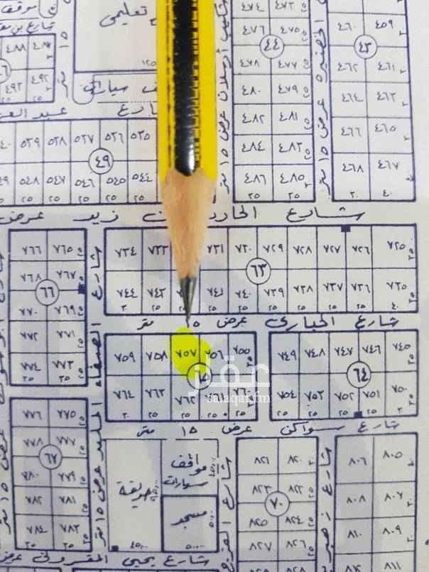 1745457 للبيع ارض في حطين الموسى مساحة ٤٢٠م الاطوال ١٢م في عمق ٣٥م سوم ٤٠٠٠للمتر  شمالية ١٥م
