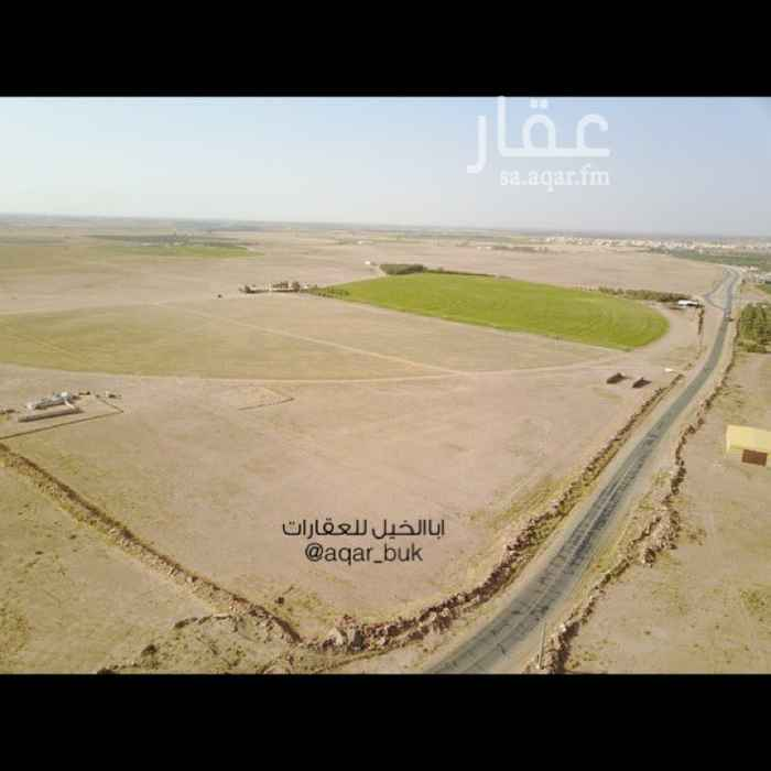 1595460 للإيجار او الإستثمار جزء من مزرعة المساحة :10000 م غرب الشيحية 👈مملوكة بصك شرعي  شارعين 👈شارع 50م جنوبي بطول 125م 👈شارع 15 م شرقي بطول 80 م