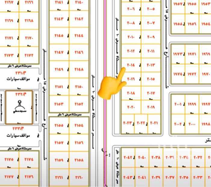 1788187 ارتداد 10 متر يليه شارع 28 متر المستقبل المربع الخامس مقابل المنح الملكية