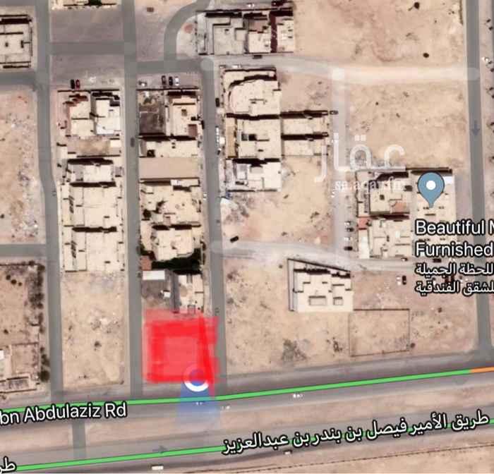 1100369 ارض تجارية رأس بلك ((على ثلاث شوارع))  على طريق الأمير فيصل بن بندر بن عبدالعزيز ((٦٠م))   حي النرجس شمال الرياض   ٦٠م شرقي - ١٥م شمالي - ١٠م جنوبي   موقع مميز و قريب من طريق الملك سلمان  ((من المالك مباشرة))