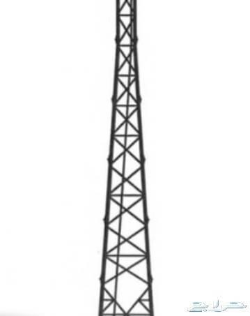 1688995 برج اتصالات للبيع طول 60 متر و جديد و هو مواصير حديد و ذاتي الارتكاز بثلاثة ارجل فقط و متوفر مفكوك بالمستودع  و للتسليم بجدة خلال 24 ساعة