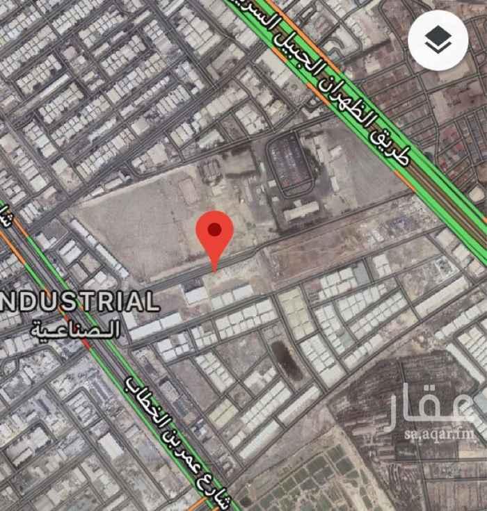 1114977 أرض صناعية بمخطط ضاحية الخير الصناعية تقع بين طريق الجبيل وشارع عمر بن الخطاب ، يميزها سهولة الوصول لها