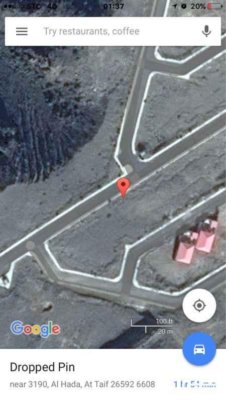163947 مخطط المطل بالهدا. قطعة رقم ٣٩٥  مخطط المطل شمال الهدا راقي وحديث كهرباء واناره ورصف الارض على شارع ١٢ وموقف سياره