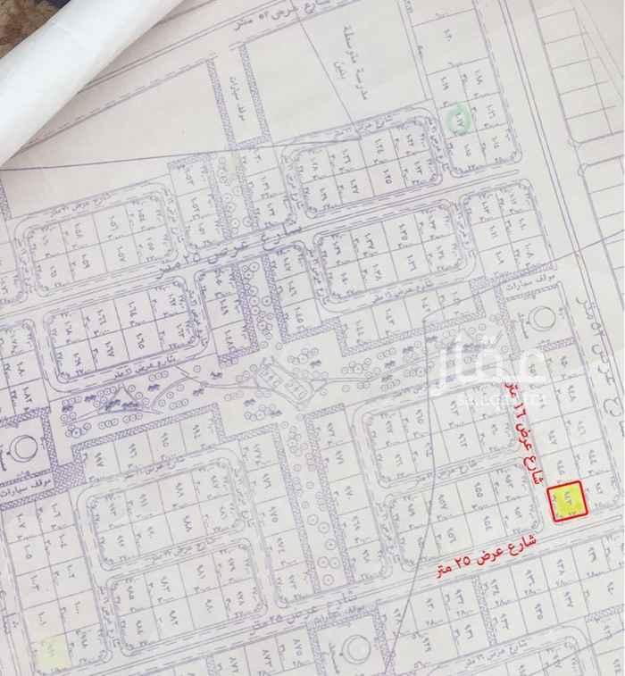 1583428 ارض سكنية على شارعين: - جنوبي 16 متر - شرقي 25 متر - ظهيرة 52 تجاري - صك الكتروني