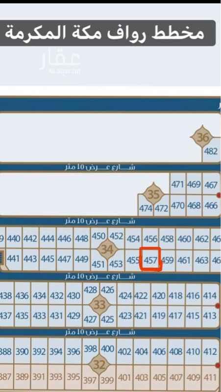 1818825 قطعة ارض رقم ٤٥٧ من مخطط رقم ك ك١/٢٠/٨٠/١الواقعه في حي الفهد المعدل بالشرائع