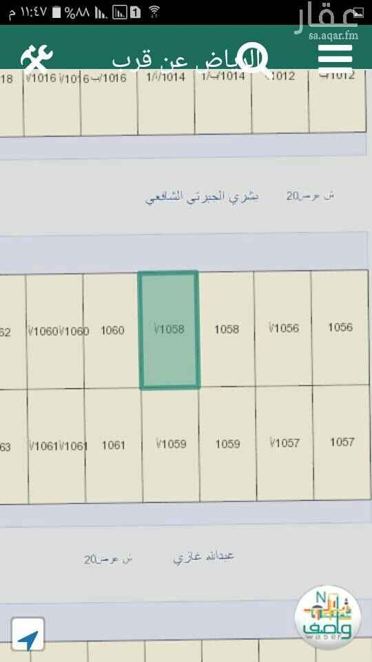 1554476 أرض سكنية حي العوالي مخطط ٢٥١٦ الذهبي جوار المسجد شارع شمالي ٢٠متر