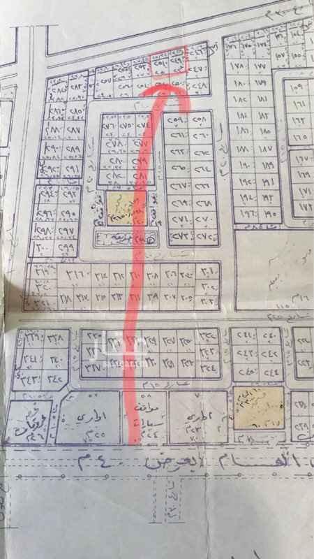 1065818 للبيع ارضين في ثادق متجاورات مخطط اليرموك شرقيات شارع 30 رقم الارض 251  و 249 مخطط 340 خلف الهلال الاحمر مساحه القطعتين 1352 متر