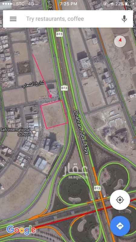 563898 ارض خام طريق الظهران الجبيل مقابل الخضريه موقع مميز تجاري صناعي سكني