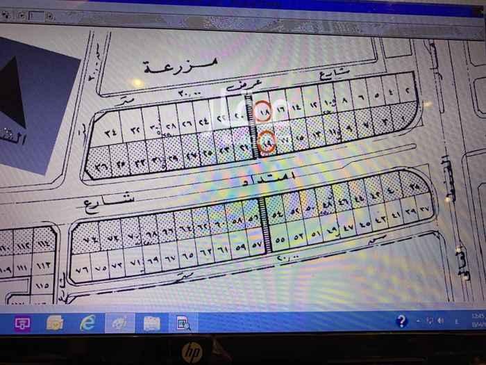 1755929 للبيع ارض تجاريه بحي الدكاتره شارع الملك سعود جنوب ونافذ غرب الاطوال ٢٥*٤٨ سعر المتر ٢٤٠٠ ريال .