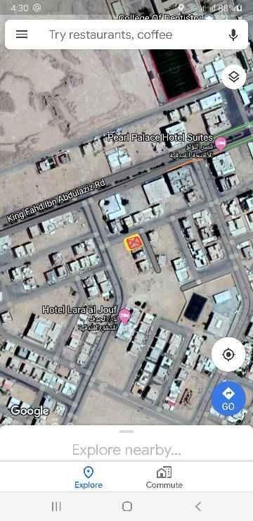 1532821 ارض للبيع بمساحة ٣٩٤متر. شارع ٢٠ غرب + شارع ١٥ شمال + ممر ٦ م