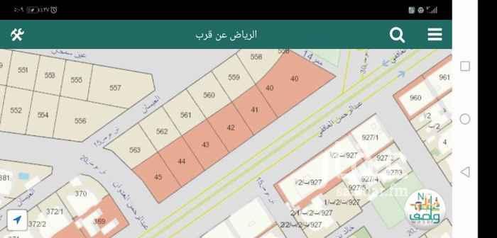 1627873 للبيع موقع مميز على مخرج 11 عبدالرحمن الغافقي  الموقع على اربع شوارع ويوجد تصريح مجمع تجاري
