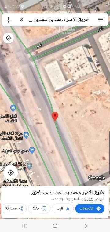 1796910 طريق الأمير محمد بن سعد  للبيع أرض تجاري غربية  شوارع ٦٠م أطوال ٣٠x٣٠ قطعة رقم ١٣٨٩  مساحة ٩٠٠م  شارع الخير غرب على السوم