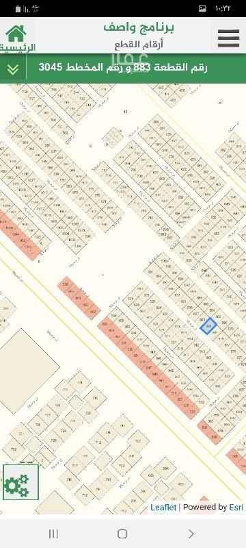 1692516 ارض للبيع في مخطط عريض  مخطط رقم ٣٠٤٥   مساحه ٤٠٠ متر   شارع ١٥   قطعة رقم ٨٨٣  سوم ٧٢ الف   وسيط مباشر