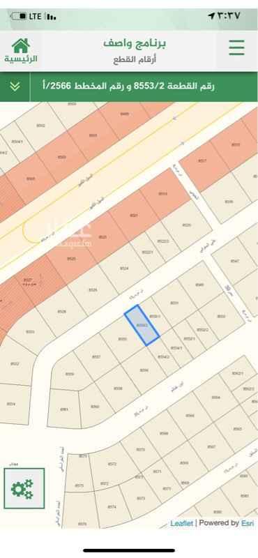 1810888 مخطط 2566/ قطعة 8553/ 2  ارض مسحتها ٣٧٥ متر قريبة من الرئيسي   شارع ١٥ شمالي    الحد 375 الف  المعلن وكيل