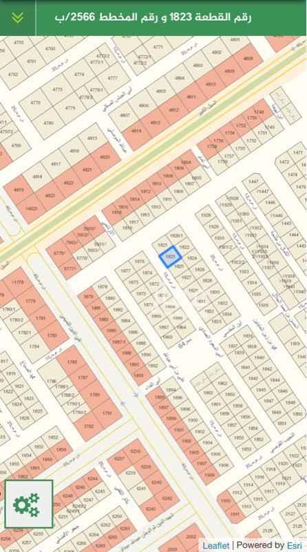 1810932 ارض للبيع مخطط ٢٥٦٦/ب  رقم القطعة ١٨٢٣  ارض طبيعتها كف مساحتها ٤٠٥ وجهتها غربية شارع ١٥  طولها على الشارع ١٨ متر  والعمق ٢٢.٥ متر  الحد 000 550