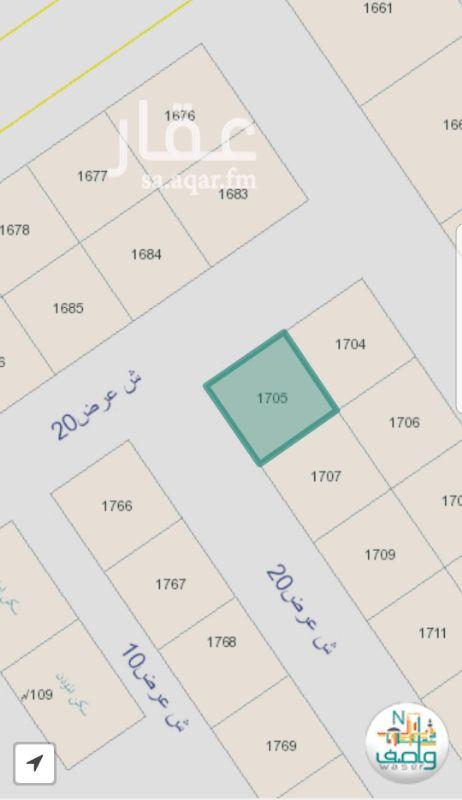 1174962 أرض سكنية في حي المهدية رقم القطعة 1705 الواجهة شمالية غربية  على شارعين كلها 20 الطبيعة ممتازة  موقع الأرض مطابق لما هو محدد في الإعلان الاتصال للجادين فقط
