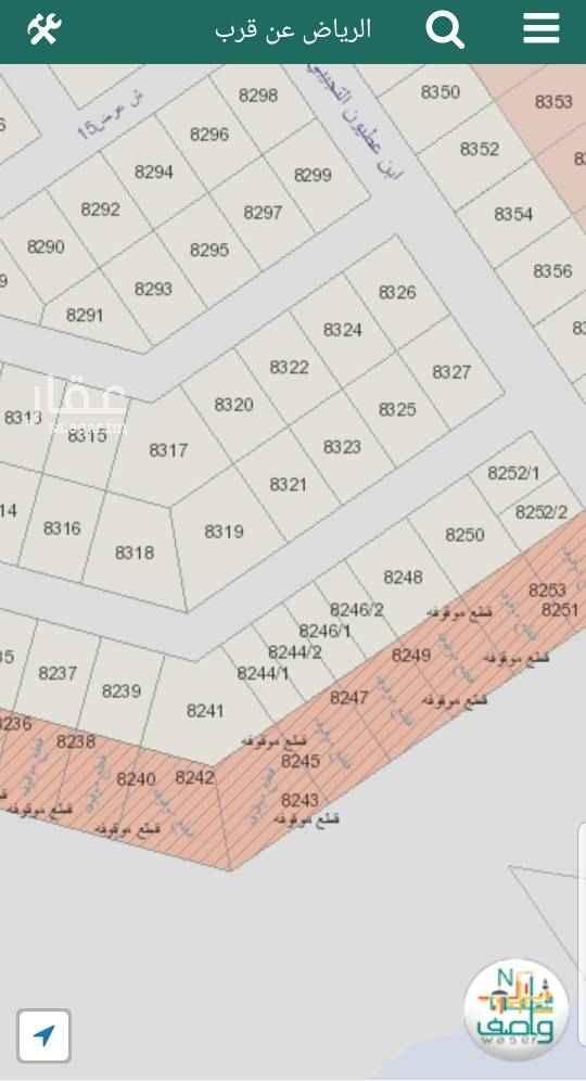 1439725 رقم القطعة 8244/2 في حي المهدية  طبيعة الأرض مستوية المساحة 400 متر مربع الواجهة شمال شارع 15 الطول 32 متر العرض 12.5 متر الموقع المذكور في الاعلان صحيح السعر المذكور سوم وليس حد