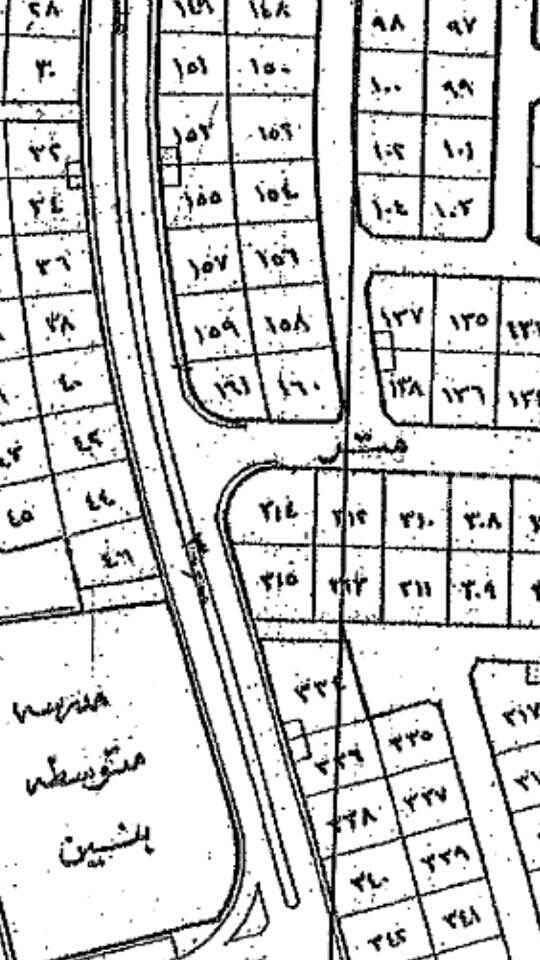 1609026 للبيع ارض في مخطط ضاحية هجر الثاني بالاحساء قطعة 161 حرف ..أ.. المساحة الحالية 625م بدون اضافة مع الاضافة تصل الى 900م شارع 20×30 السوم 235.000