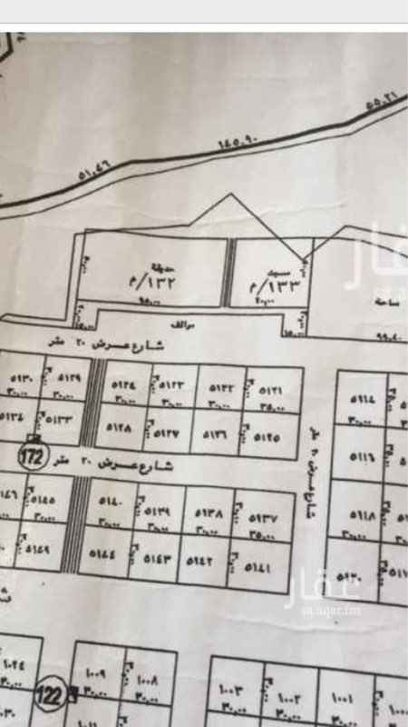 1788764 ارض للبيع في حي المهديه   ٥١٢٦ مساحة ٩٠٠ مجزءة  شارع ٢٠ جنوبي مزفلت  سوم مليون البيع قريب