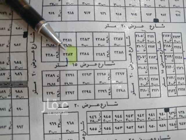 1523546 *** للبيع قطعه ارض ***  حي القيروان غرب الخير  المساحه ٣٩٣م شارع ١٥ جنوبي  الاطوال  ١٥*٢٦.٢٠   البيع ٢٣٠٠