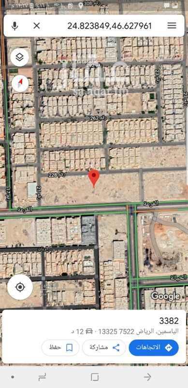 1307087 للبيع بلك تجاري في حي الياسمين   شمال الرياض   مربع ٥  المساحة ١٧الف متر   السوم ٢٤٥٠  البيع باذن الله ٢٥٠٠  مباشر
