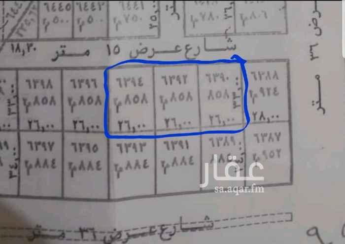 1336093 للبيع 3 قطع بالياسمين مربع 5 ظهيرة تجاري مساحة القطعة 858 متر اطوال كل قطعة 26×33 البيع 1950 ريال للمتر شامل كل شي ولكن دون فاتورة ضريبة