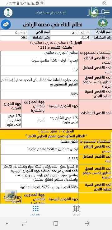 1307087 للبيع بلك تجاري في حي الياسمين يصلح تجاري سكني   شمال الرياض   مربع ٥  المساحة ١٧الف متر   السوم ٢٤٥٠  البيع باذن الله ٢٥٠٠  مباشر