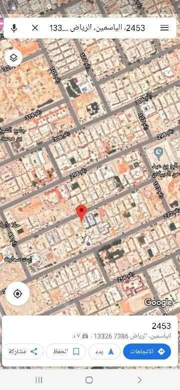 1720653 للبيع  أرض سكنية مربع 18 في  الياسمين  المساحة 728م الأطوال  26*28 رقمها 1590.   شارع شمالي 15م  ممكن تنقسم   البيع ب ٢٥٠٠ +الضريبة العرض مباشر من المالك