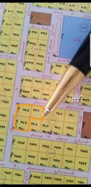 1808512 *حي الياسمين مربع ٩*  للبيع ارض سكنيه  راس بلك ٣قطع شوارع ١٤ الاجمالي ٢١٨٢م قطعتين زاويا ١٤٨٢م الاطوال ٢٦*٥٧عمق وقطعة شمالية ٧٠٠م شارع ١٤ الاطوال ٢٥*٢٨عمق حد ٣٠٠٠الاف للمتر. الموقع غير صحيح