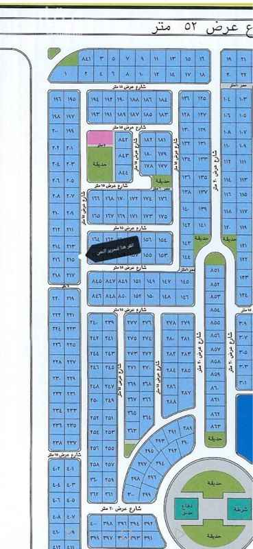 1615389 نص قطعة للبيع بمخطط الشاطىء الذهبي  المساحة ٣١٢.٥