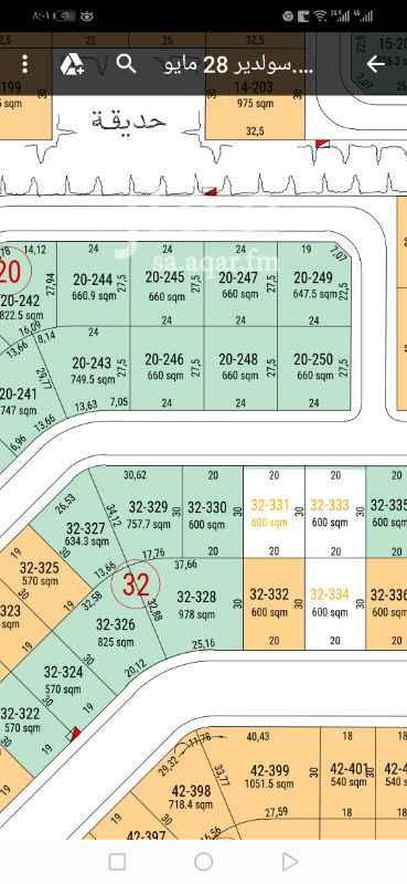 1765175 للبيع قطعه ارض في حي السليدير جنوبيه شارع ٢٥ المساحه ٩٧٨م الاطوال٢٥و٣٧           ٣٠*٣٢ البيع ٣٣٠٠ مباشر من المالك