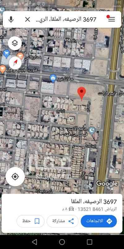 1173472 للبيع قطعه ارض سكنيه  حى ملقا الحمدان  المساحه ٨٧٥م  الأطوال ٢٥ * ٣٥ شارع ٢٠م شمالى  البيع ٢٨٠٠