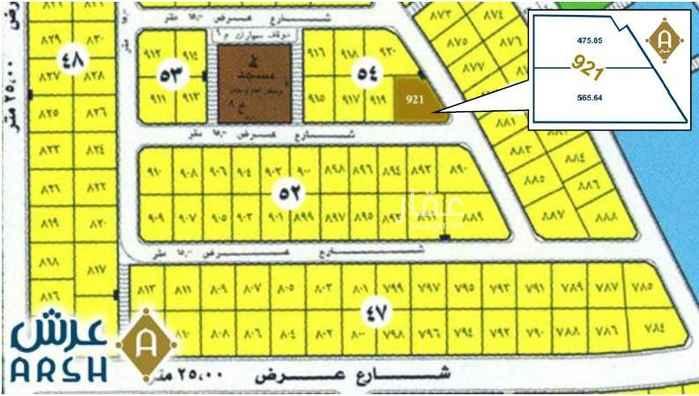 1421107 للبيع زاوية بالروابي  زاوية شرق جنوب ٥٦٥ متر جنب مسجد وقرب خدمات الحي ١٦٥٠ ريال للمتر