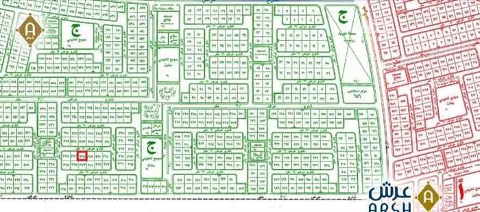 1573843 للبيع ارض في مخطط 605  رقم 374 ج مساحة 834 متر  شارع 16 شمال  قرب مسجد وحديقة على السوم  مباشرة من المالك