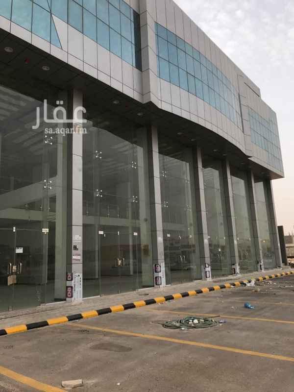 1648549 للإيجار بالكامل  عمارة تجارية على طريق الملك سلمان  مكونة من 6 صالات ميزانين + 10 مكاتب إدارية زاوية شارع 80 و 20  يتوفر مصعد