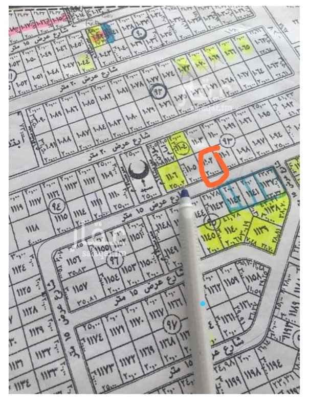 1097333 للبيع قطعه ارض ٦٠٠م بجوهره القيروان جنوبيه شارع ١٥ اطوال ٢٠*في ٣٠ رقم القطعه ١١٠٢ سوم ١٤٠٠ بيع قريب مباشر من المالك