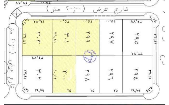 1686423 للبيع ارضى سكنيه حى الرحاب  من افضل الاحياء شمال الرياض  مساحات متنوعه
