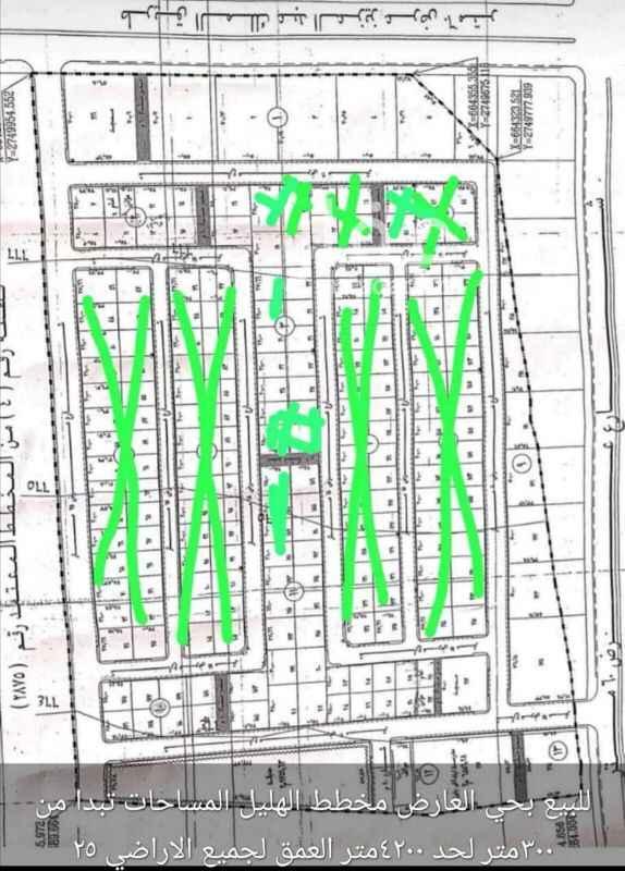 1704874 للبيع ارض بمخطط الهليل  المساحه ٢٠٠٠متر  الاطوال ١٠٠×٢٥ شرقيه شارع ١٨متر   للتواصل واتساب او اتصال ع جوال ٠٥٣٨٨٤٩٠٦٤