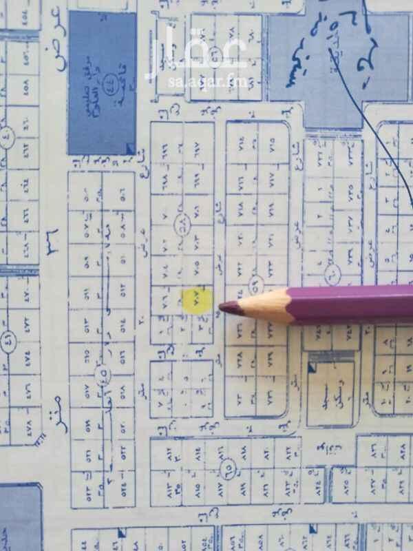1386766 للبيع ارض في حي الفلاح شارع ١٥ جنوبي  الاطوال   14في 40 مساحة 560متر  السعر 3000