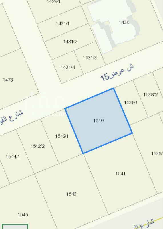 1401686 للبيع ارض سكنية   ٩٩٠م  حطين النموذجي  شارع ١٥ شمالي  اطوال ٣٠*٣٣ ٢٥٠٠ ع شور  مباشر