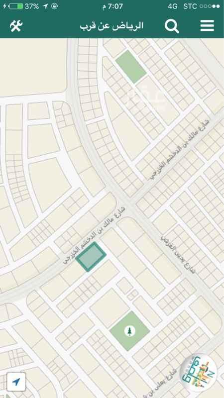 أرض للإيجار فى شارع مالك بن الدخشم الخزرجي, الرياض صورة 2