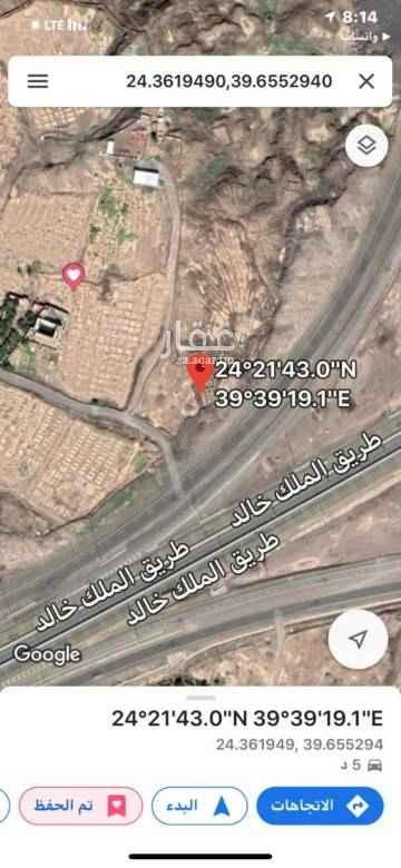 1791165 مزرعه للبيع على طريق قباء والملك خالد واجهتها 480 م على الشارع