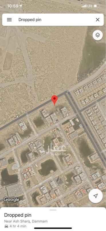 1622342 الأرض في حي الشرق شمالية على شارع ٤٠ م  أطوالها ٢٣ متر على الشارع في عمق ٣٥ متر رقم الأرض ٣١٥ الموقع دقيق جداً في الخارطة والصور
