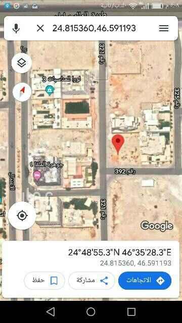1727899 للبيع ارض زاوية بالملقا غرب الخير ونافذه للملك سلمان  مساحة ٩٠٠ م  الاطوال ٣٠ × ٣٠  شارع ٢٠ جنوبي غربي  البيع ٣٠٠٠ ريال   https://maps.app.goo.gl/e3MxEaR5x6A5E8U3A